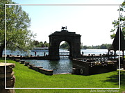 Harts Photo Framed Prints - Boldt Castle Entry Arch Framed Print by Rose Santuci-Sofranko