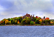 Alexandria Bay Posters - Boldt Castle in the Fall Poster by Sharon Batdorf