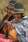 Highland Prints - Bolivian women knitting. Republic of Bolivia.  Print by Eric Bauer