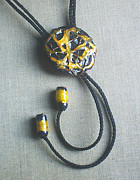 Hand Made Jewelry - Bolo black and gold by Asya Ostrovsky