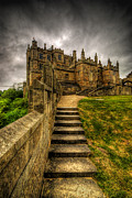 Castle Steps Framed Prints - Bolsover Castle Framed Print by Yhun Suarez