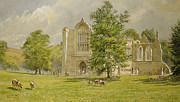 Cemetery Painting Posters - Bolton Abbey  Poster by Tim Scott Bolton