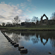 Stepping Stones Posters - Bolton Priory Poster by Steve Watson