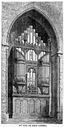 Raj Framed Prints - Bombay: Organ, 1865 Framed Print by Granger