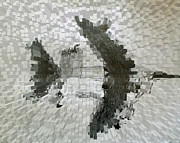 Mosaic Drawings - Bomber by Alexander Wahl