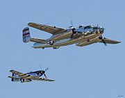 North American P51 Mustang Photo Posters - Bomber Escort Poster by Jeff Stallard