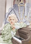 Harlow Metal Prints - Bombshell, Jean Harlow, 1933 Metal Print by Everett