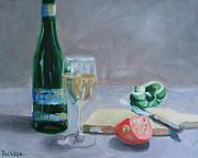 Wine Glass Paintings - Bon Appetite by Paul Walsh
