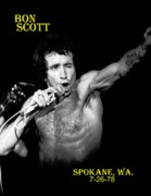 Bon Scott Framed Prints - Bon Scott in Spokane 3 Framed Print by Ben Upham