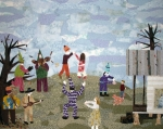Rural Tapestries - Textiles Prints - Bon Temps de Mardi Gras Print by Charlene White