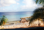 Tropical Photographs Photos - Bonaire Beach by C Sitton