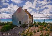 Slavery Pastels Metal Prints - Bonaire Slave Hut Metal Print by Jan Fontecchio