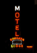 Motel Art Posters - Bonanza Lodge Motel Poster by David Lee Thompson