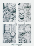 Local Drawings Posters - Bones and Hope Poster by David Artis Motoc
