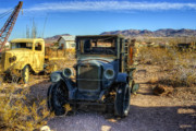 Old Automobile Posters - Boneyard Poster by Stephen Campbell