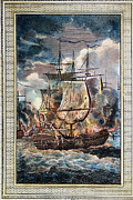1779 Framed Prints - Bonhomme Richard, 1779 Framed Print by Granger