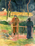 Overcoat Posters - Bonjour Monsieur Gauguin Poster by Paul Gauguin