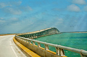 Bonner Bridge - Highway 12 Nc Print by Anne Kitzman