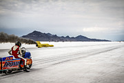 Vintage Motorcycle Prints - Bonneville Speed Week 2012 Print by Holly Martin
