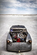 White Images Posters - Bonneville Speed Week Images Poster by Holly Martin