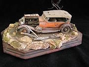 Classic Car Sculptures - Bonnie and Clyde by James Roark
