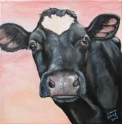 Holstein Posters - Bonnie Bell Poster by Laura Carey