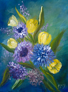 Cut Flowers Paintings - Bonnie Bouquet by Joanne Smoley
