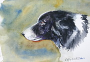Collie Painting Framed Prints - Bonnie Dog Framed Print by Bobby Walters