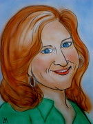 Redhead Drawings Posters - Bonnie Rait Poster by Pete Maier