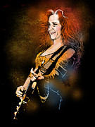 Singer  Paintings - Bonnie Raitt by Paul Sachtleben
