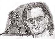 Bono Art - Bono by Chris  DelVecchio
