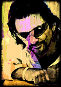Pop Icon Paintings - Bono by David Lloyd Glover
