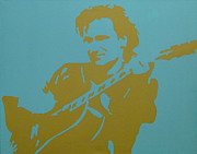 U2 Painting Metal Prints - Bono Metal Print by Doran Connell
