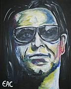 Bono Painting Originals - Bono by Elizabeth-Anne Curistan