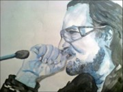 Bono Art - Bono in blue by Pauline Murphy