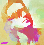 Rock Band Digital Art Prints - Bono Print by Irina  March
