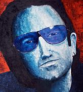 Hewson Painting Originals - Bono  by Rene Romero Schuler