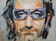 U2 Painting Metal Prints - Bono Metal Print by Stanciu Razvan