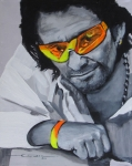 Portrait Drawings Originals - Bono  U2 2 U by Eric Dee