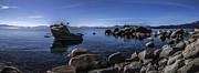 Bonsai Tree Posters - Bonsai Rock Lake Tahoe Poster by Brad Scott
