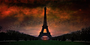 Storm Digital Art Metal Prints - Bonsoir Paris Metal Print by Chris Lord