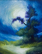 Van Gogh Painting Originals - Bonzai II by James Christopher Hill