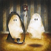 Ghosts Paintings - Boo Attic by Kurt Riemersma