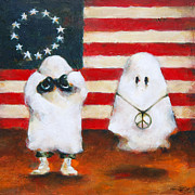 Ghosts Paintings - Boo Flag by Kurt Riemersma