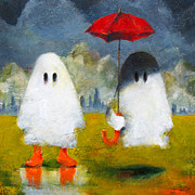 Umbrella Paintings - Boo Rain by Kurt Riemersma