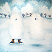 Storm Clouds Paintings - Boo Snow by Kurt Riemersma