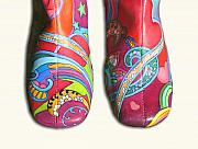 Peter Max Paintings - Boogie Shoes by Mary Johnson