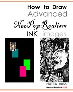Jagger Mixed Media - Book by Nadia Russ by How to Draw Advanced NeoPopRealism Ink Images
