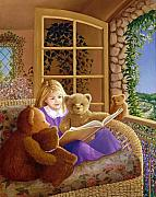 Story Books Framed Prints - Book Club Framed Print by Susan Rinehart