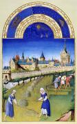 Manuscript Illumination Prints - Book Of Hours: June Print by Granger